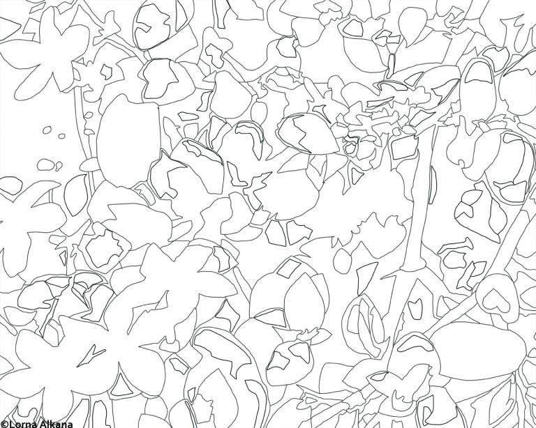 flowers 16x20 web line