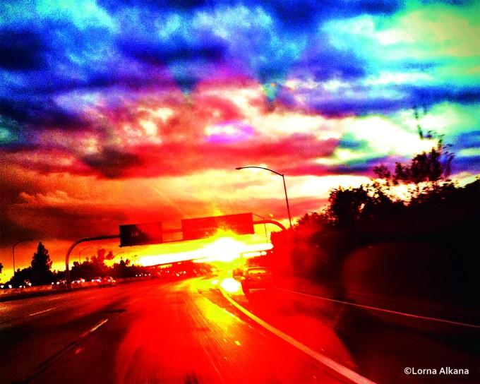 freeway sunset 16x20 web photo