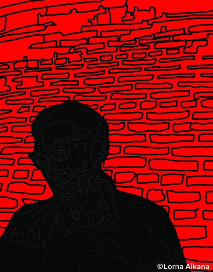 jordan with brick wall process for web