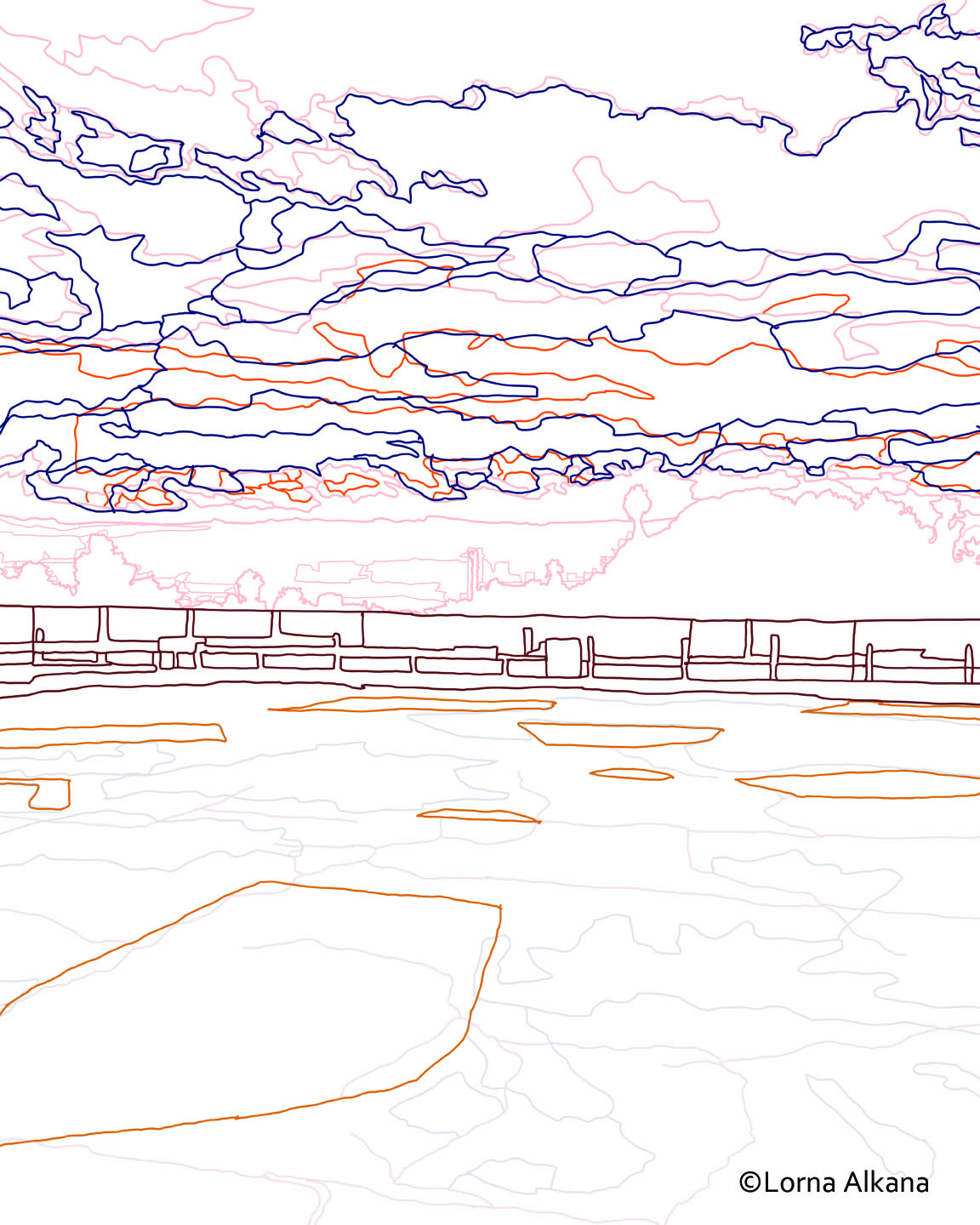 sunset line drawing related keywords sunset line drawing