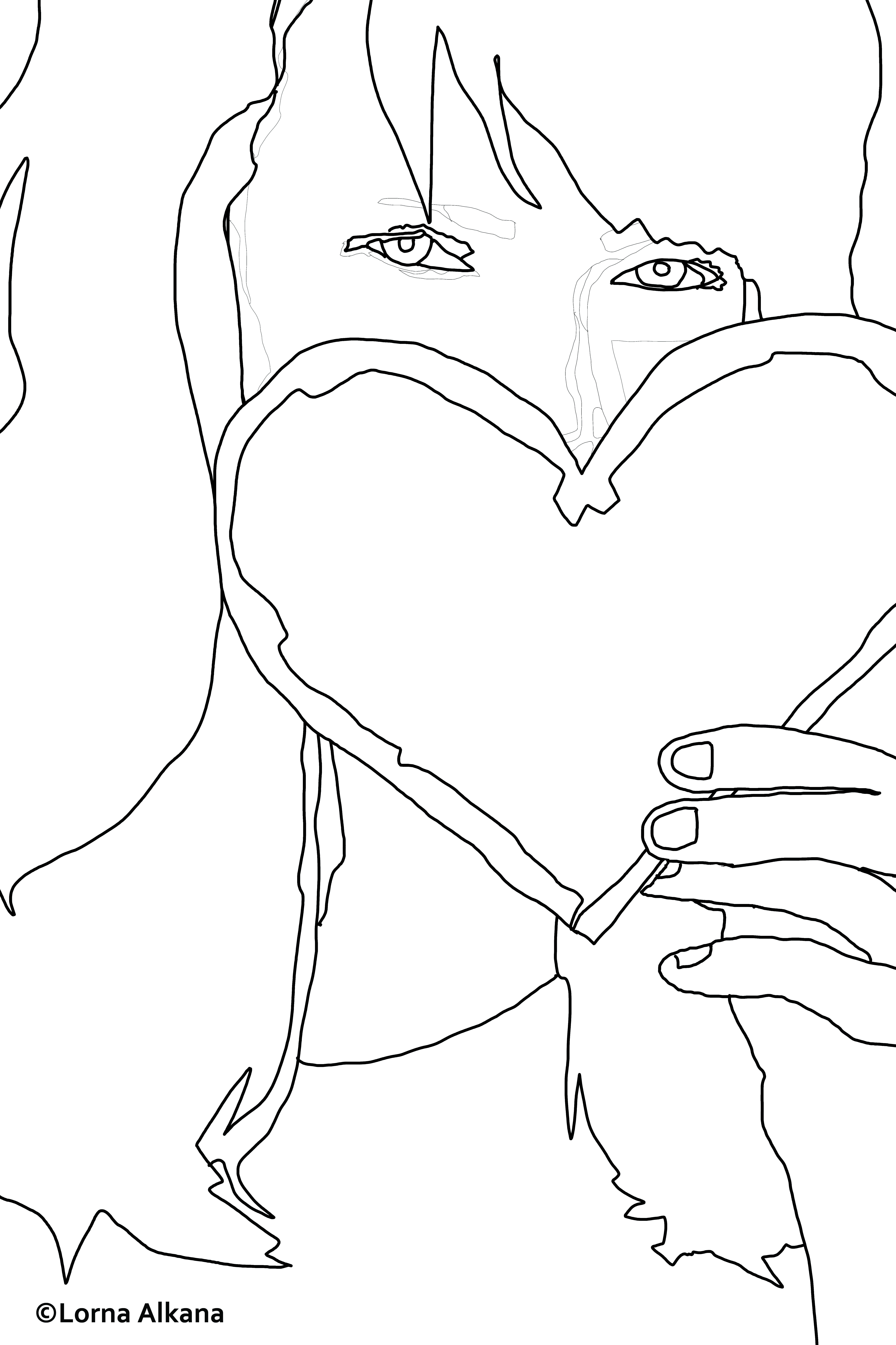 Line Art Of Heart : Heart line drawing