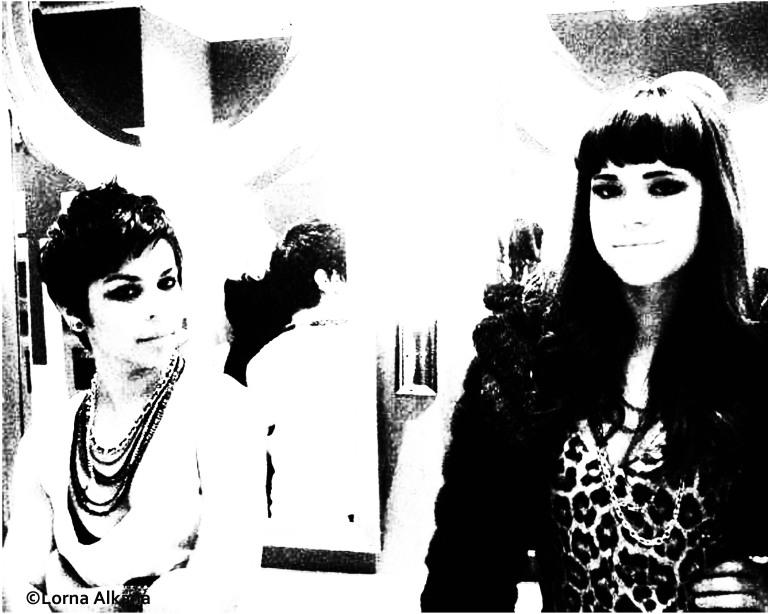 two women in a las vegas bathroom 16x20 photo process web