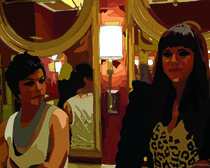 two women in a las vegas bathroom 16x20 second for web feat