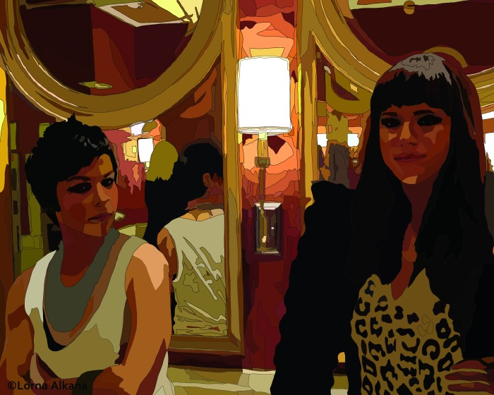 two women in a las vegas bathroom 16x20 second for web