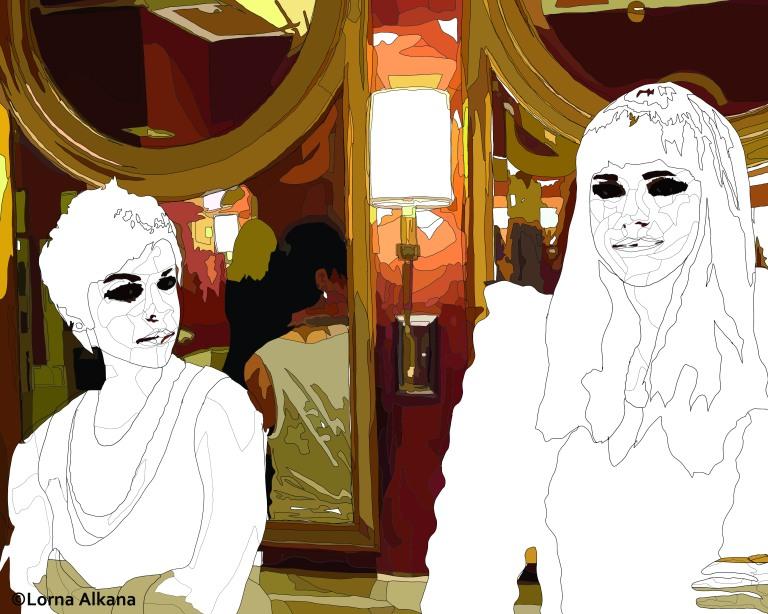 two women in a las vegas bathroom 16x20 second web process