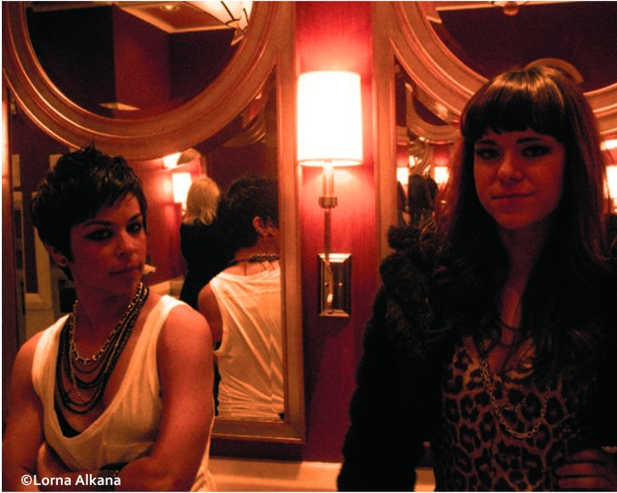 two women in a las vegas bathroom 16x20 web photo
