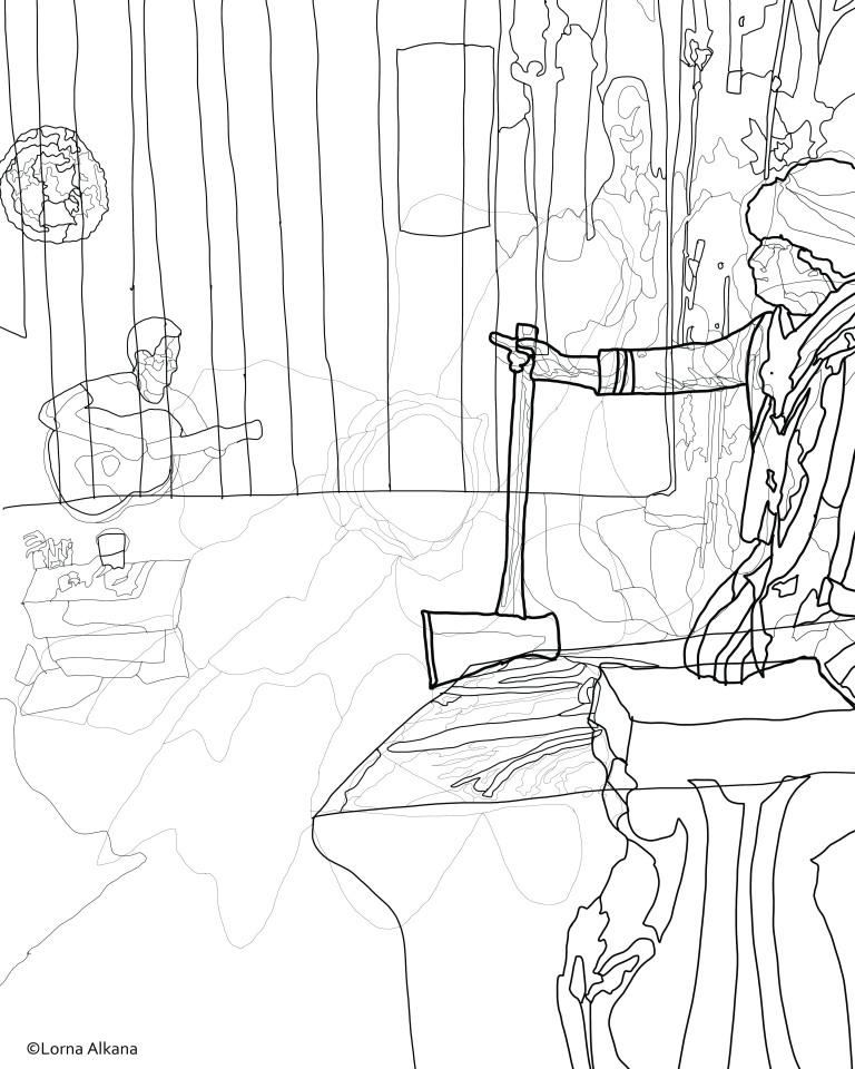 george jordan washington 2 16x20 for web line drawing
