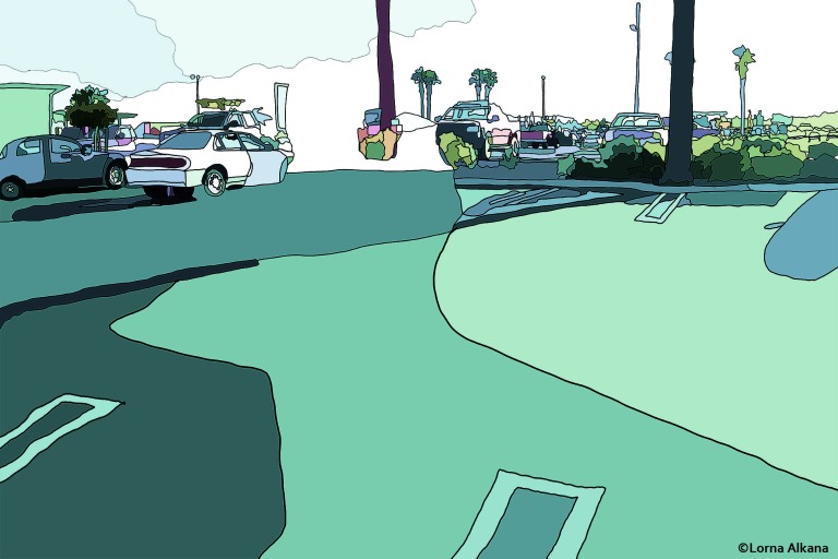 parking lot dance party 20x30 for web background color