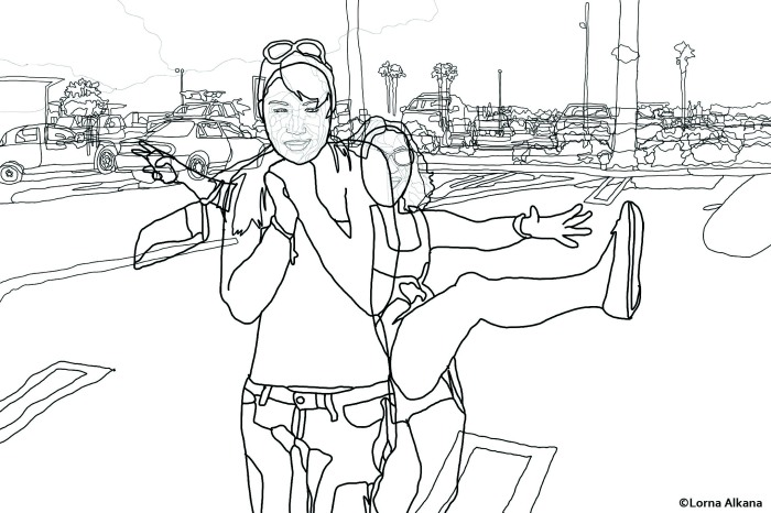 parking lot dance party 20x30 for web line drawing