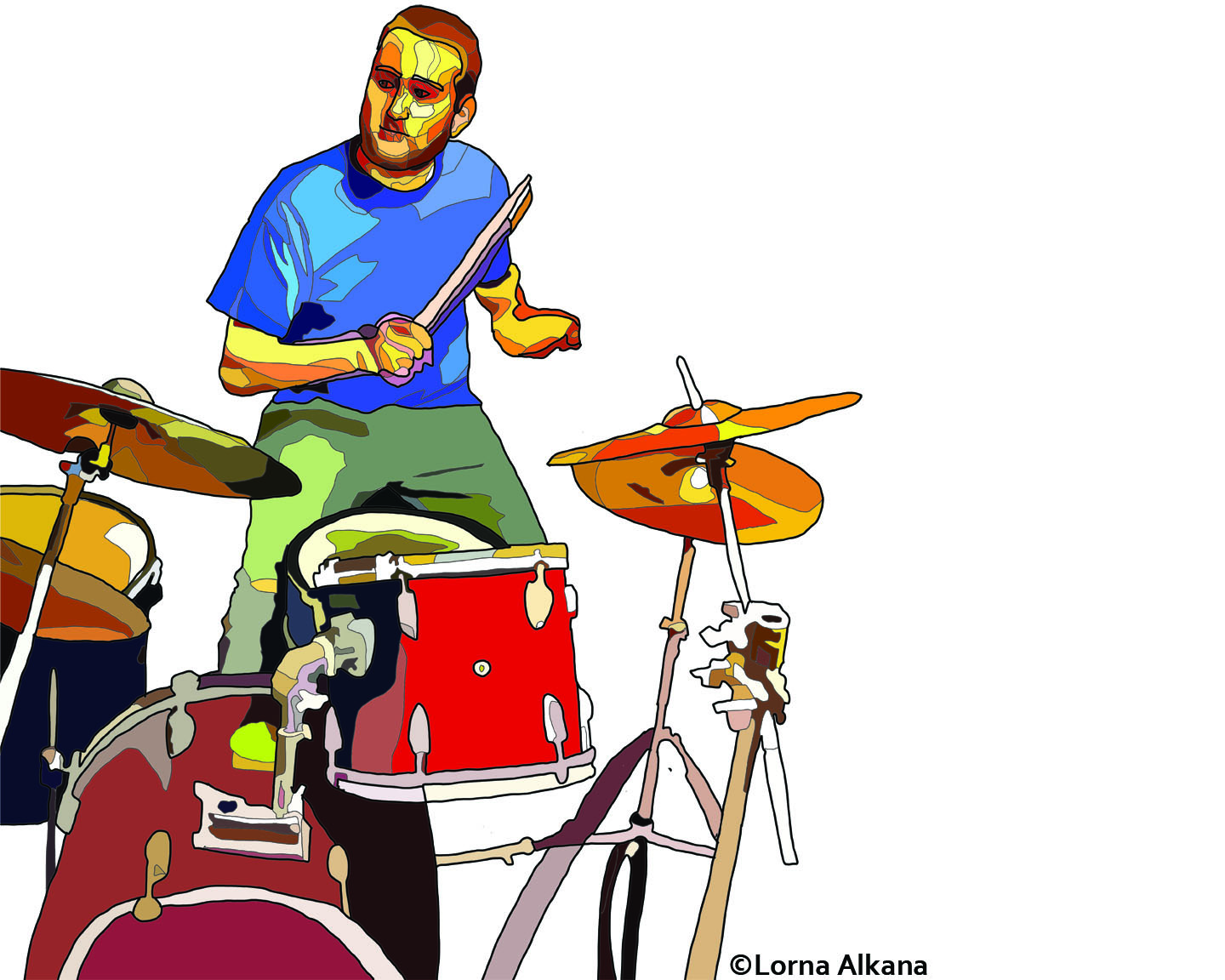 Former rock-n-roller now beats the drums for students