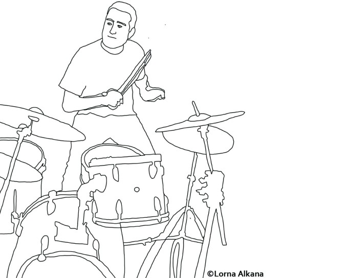 playing the drums lines simple web