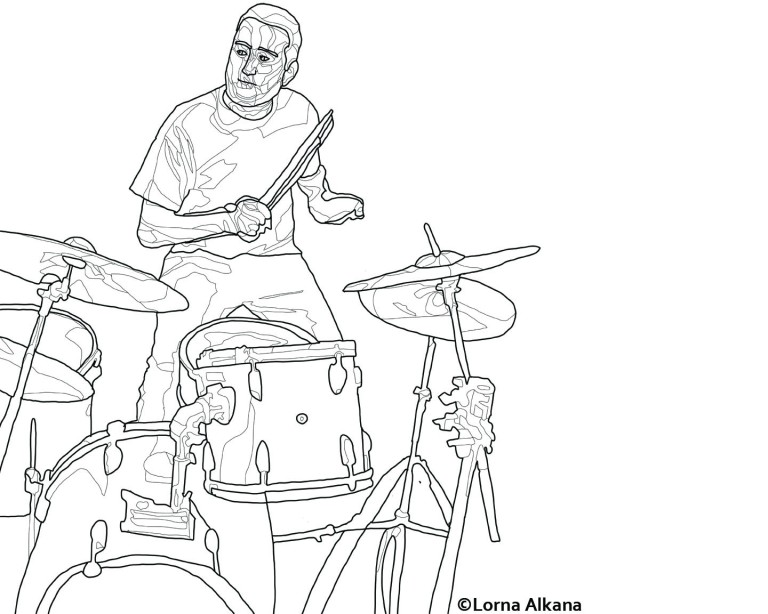 playing the drums lines web