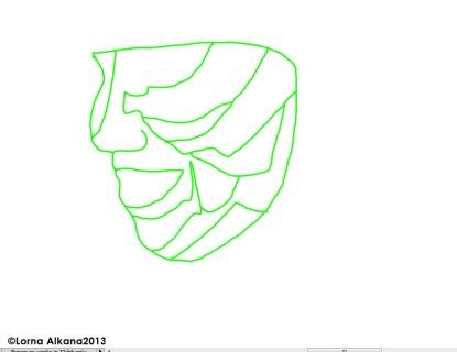 danielle face simple line w