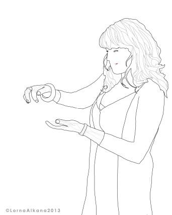 danielle line drawing w