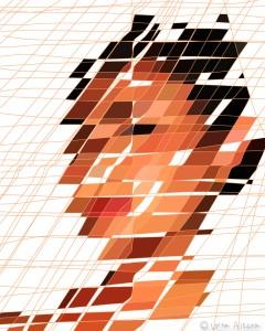 mona portrait 16x20 w lines