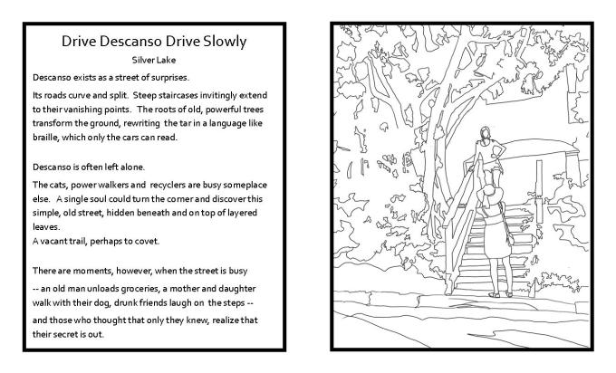 drive descanso coloring book web
