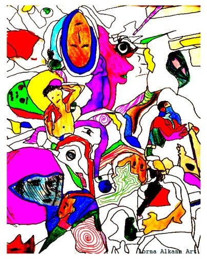 2. collaborative coloring with saturation and contrast for emphasis