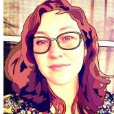 photo + drawn hair and glasses