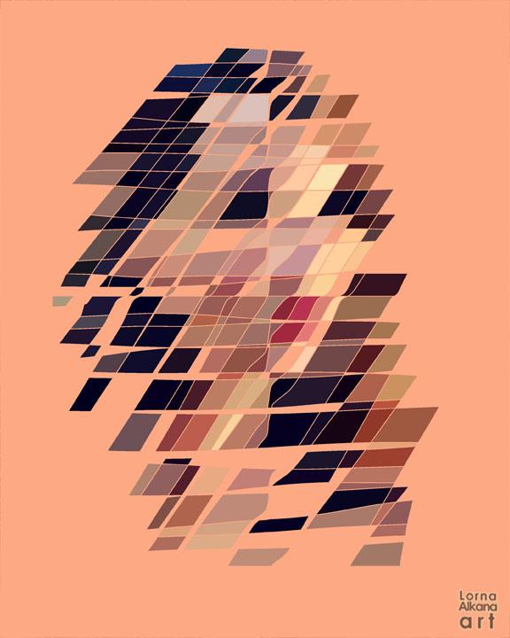 Esther Portrait - Lines to Shapes