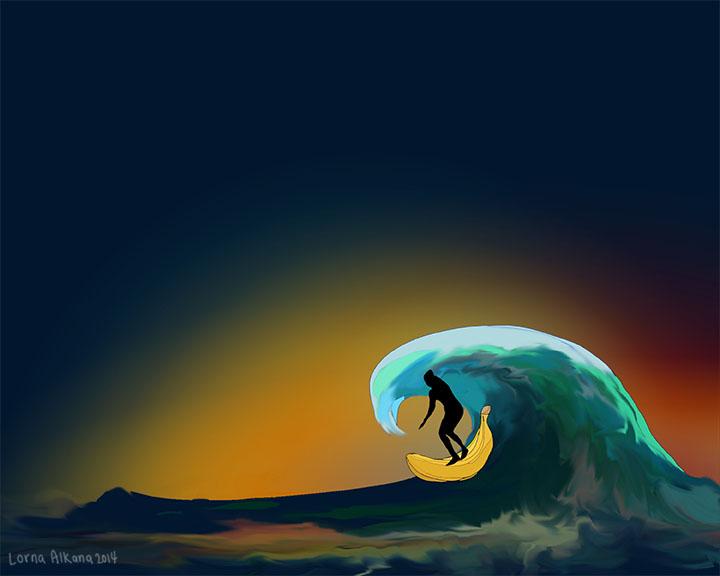 surf dad banana 8x10 w