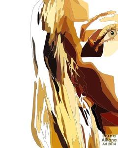 megan portrait process 3 lorna alkana 16x20