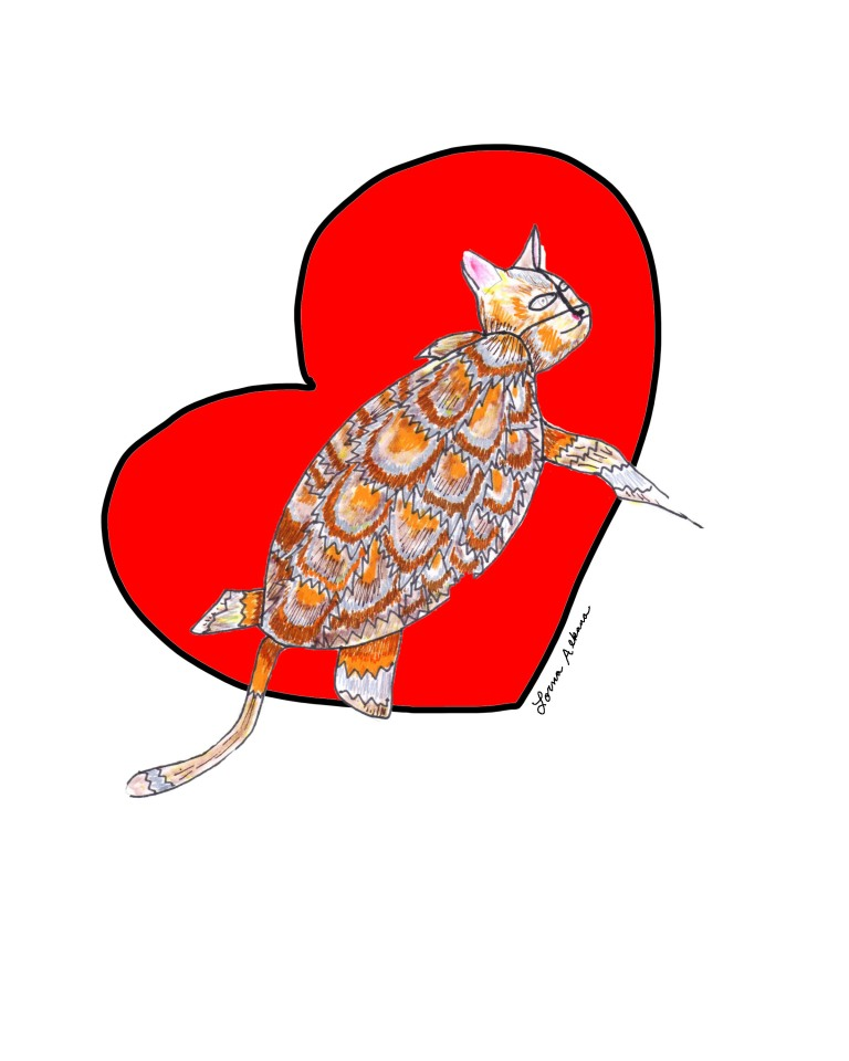 turtle cat vday 8x10 for web