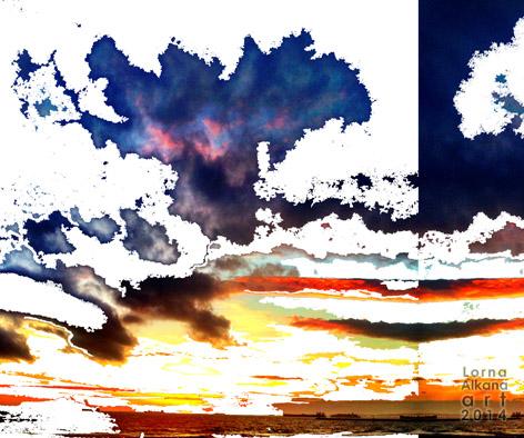 sunset beach face fbw process
