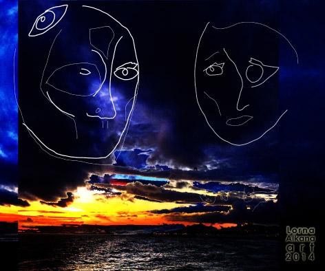 sunset beach face fbw3