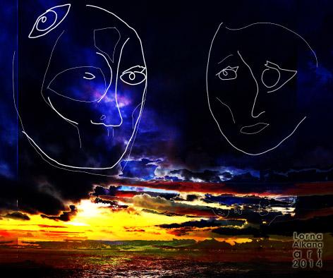 sunset beach face fbw4