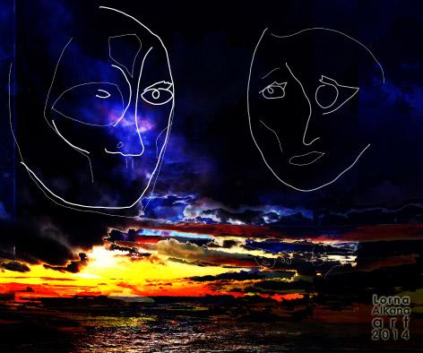 sunset beach face fbw5