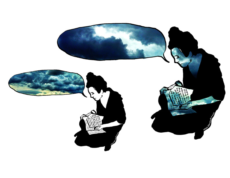 Clouds in pages and people
