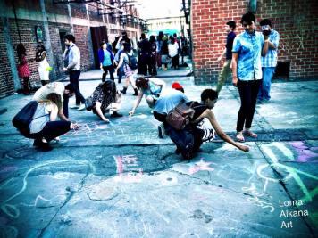 lorna alkana art brokechella chalk