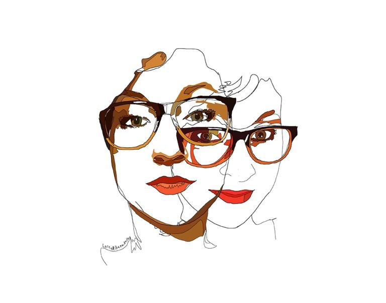 self portrait march 11x14w