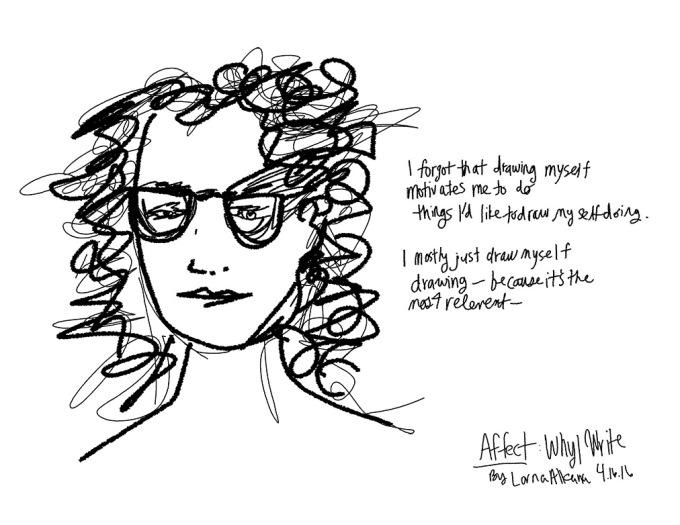 self portrait why I write w