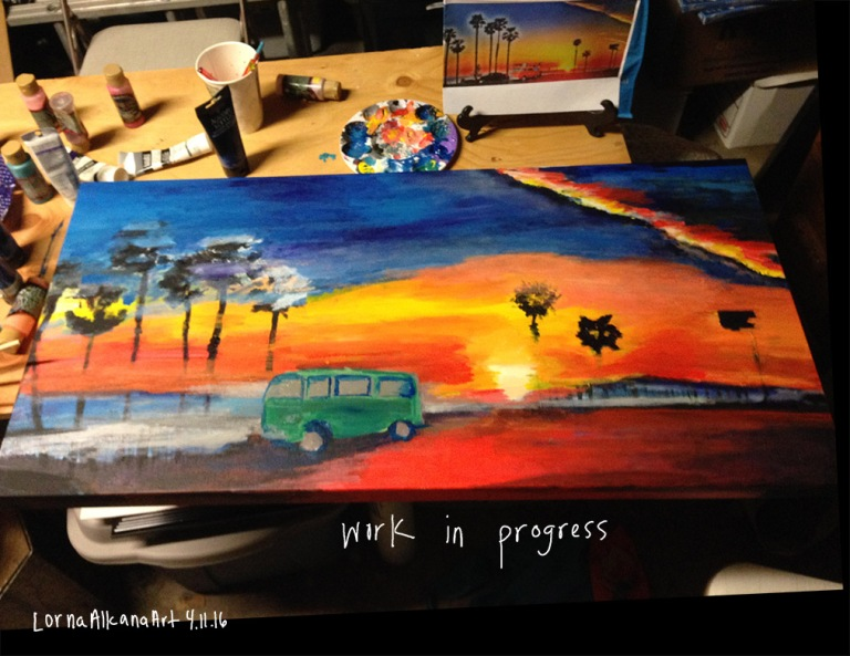 sunset painting process 11x8 final wip w