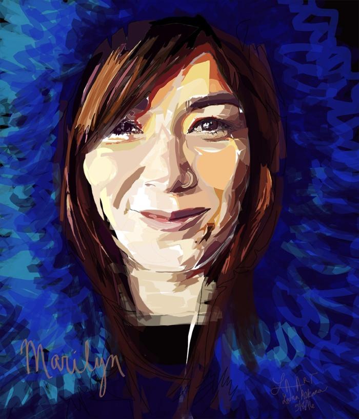 marilyn 11x14 blue w