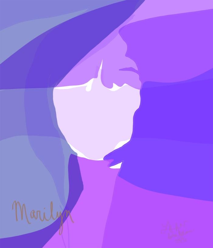 marilyn 11x14 w process 2 purple