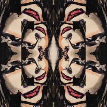 amber watercolor portrait lorna alkana kaleidoscope