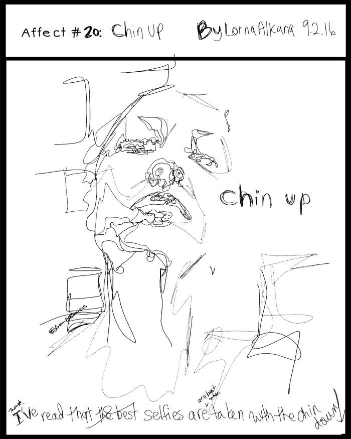 self portrait snap chat 16x20 affect text w