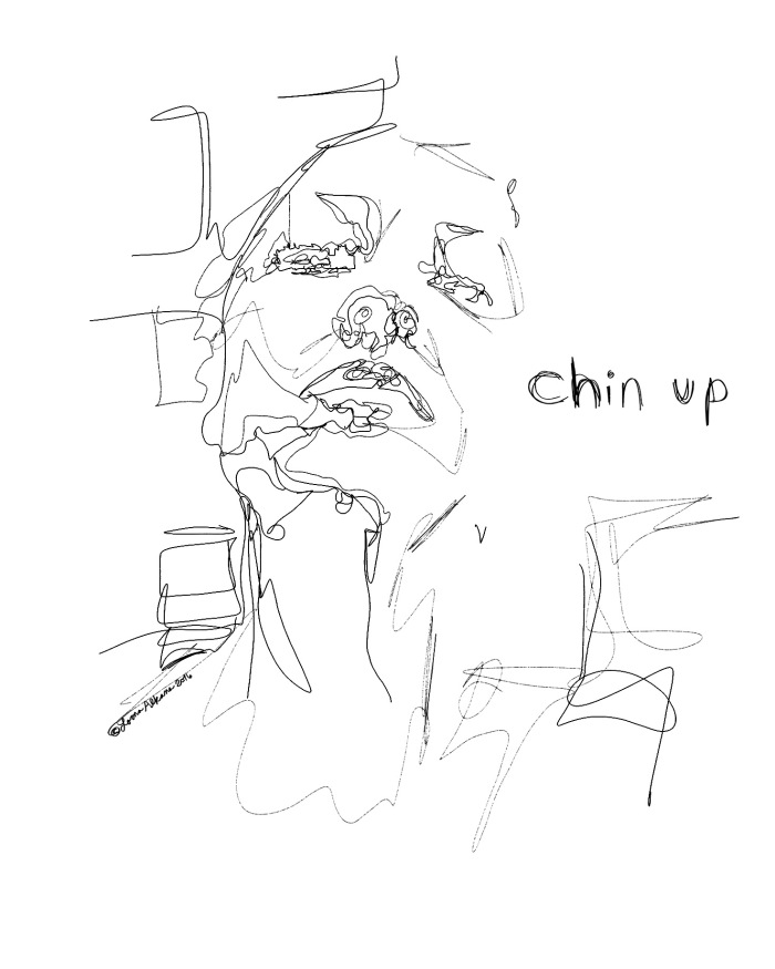 self portrait snap chat 16x20 w