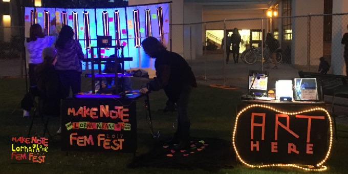 make note glow fem fest landscape web