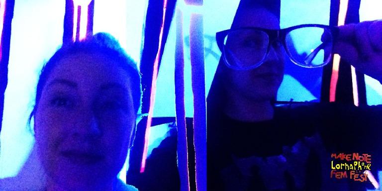 selfie attempts black light fem fest landscape web