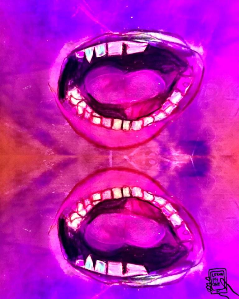 trump mouths double lornaphone