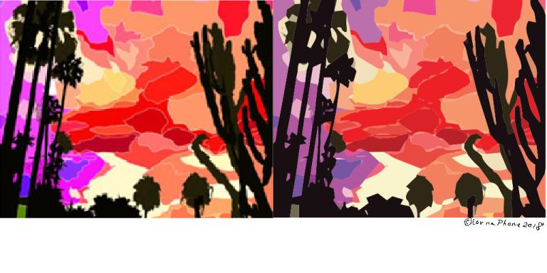 sunsets color lornaphone ai psd comparison